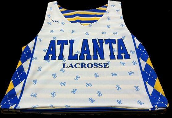 atlanta lacrosse pinnies - Sublimated pinnies