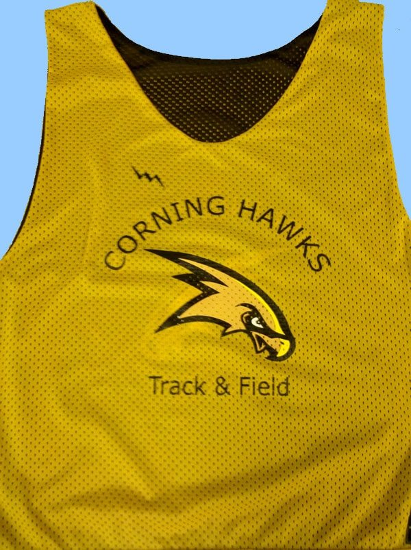 corning hawks track and field pinnies