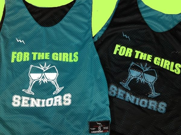 for the girls seniors pinnies