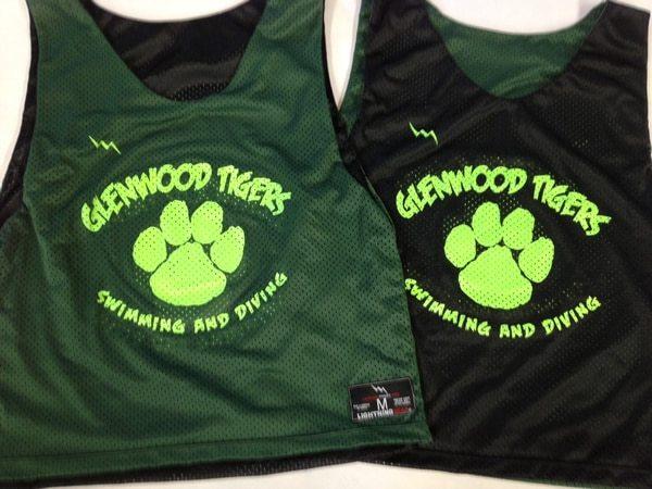 glenwood tigers swimming pinnies
