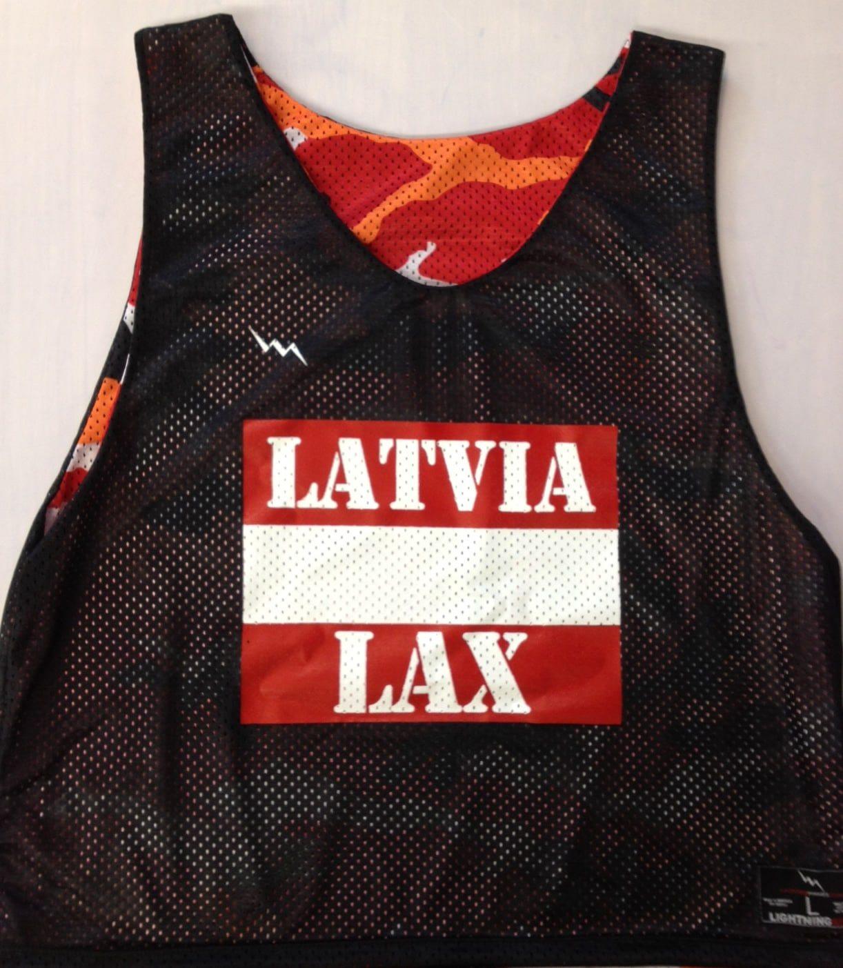 latvia lacrosse pinnies