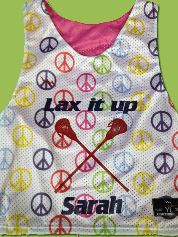 lax it up pinnies peace pinnies